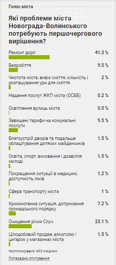 Дороги, забруднення Случі, безробіття: Новоград-волинці повідомили про проблеми міста які потребують першочергового вирішення, фото-1