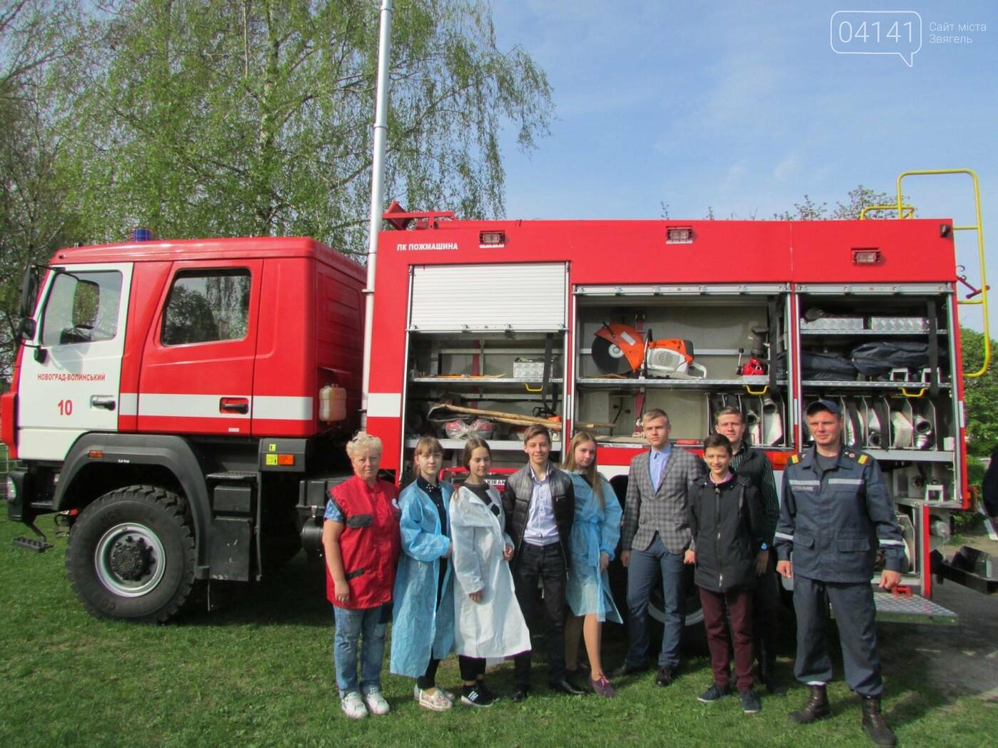 У Новограді-Волинському рятувальники провели для школярів громадську акцію «Запобігти. Врятувати. Допомогти.» (ФОТО), фото-11