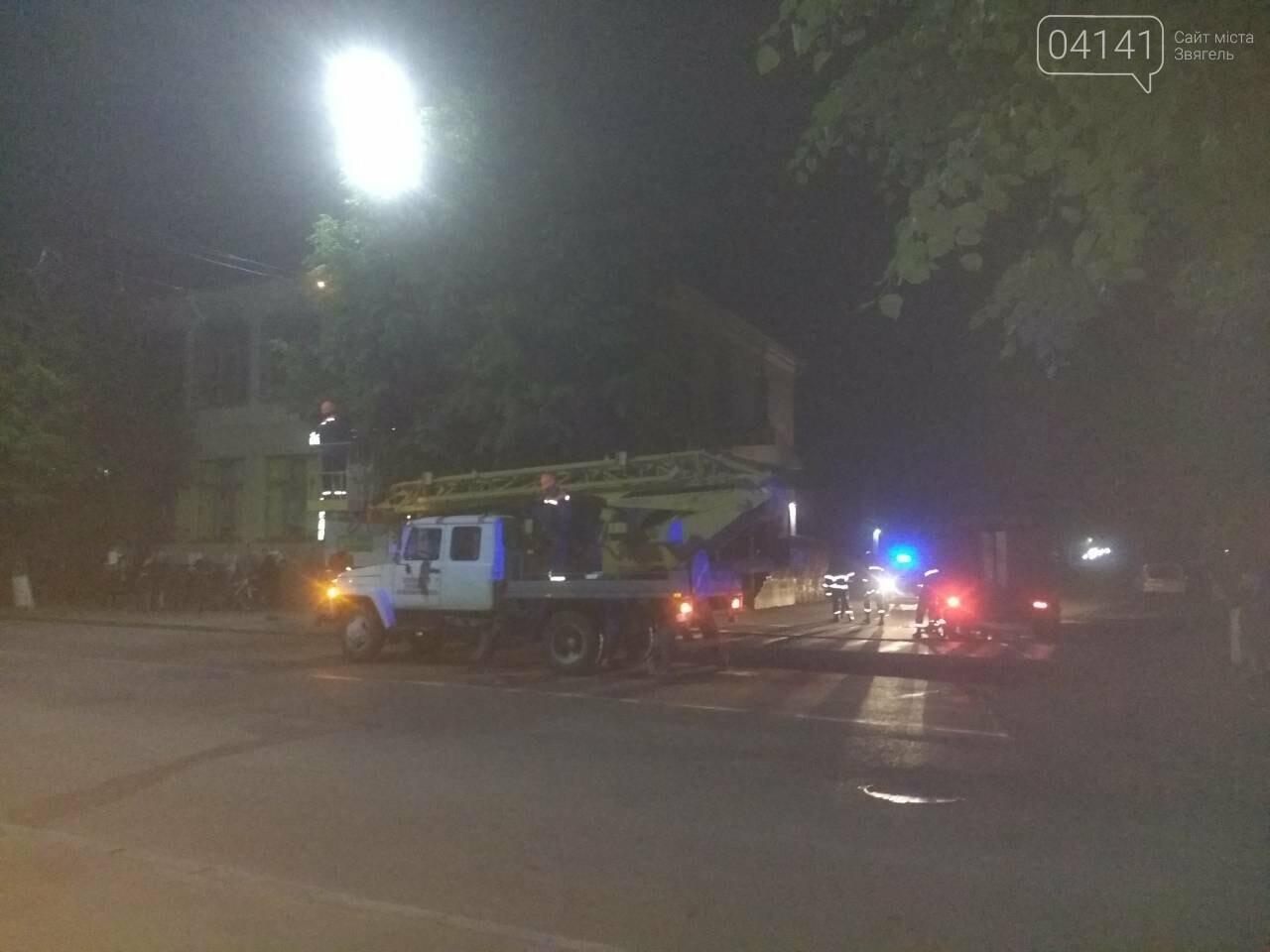Замикання лінії електропередач ледь не призвело до пожежі в центрі Новограда-Волинського, фото-1