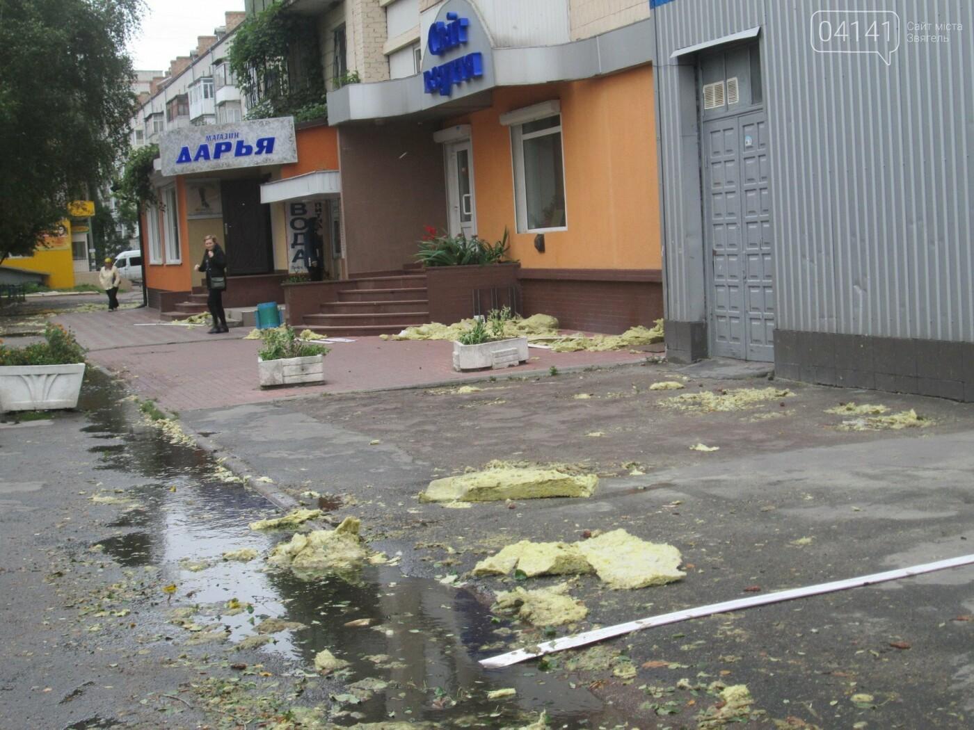 У Новограді-Волинському вітер наробив лиха (ФОТО, ВІДЕО), фото-1