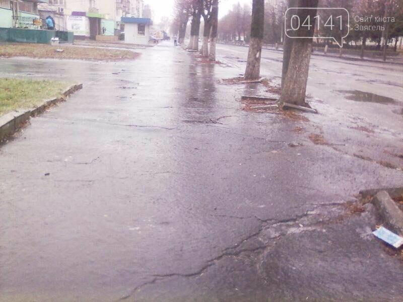 Обережно ожеледиця!: Вулиці Новограда-Волинського перетворилися на суцільну ковзанку, фото-1