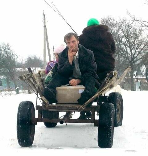 У Новоград-Волинському районі між двома селами курсує кінне таксі, фото-1