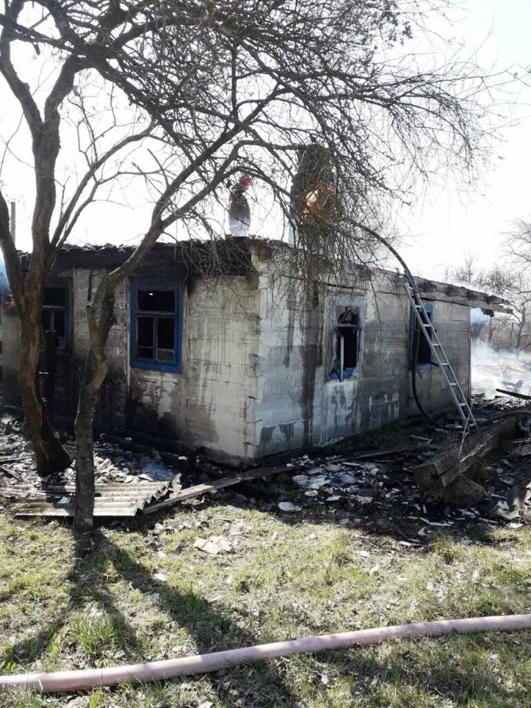 У Новоград-Волинському районі через спалювання сухого листя загорівся будинок, фото-1