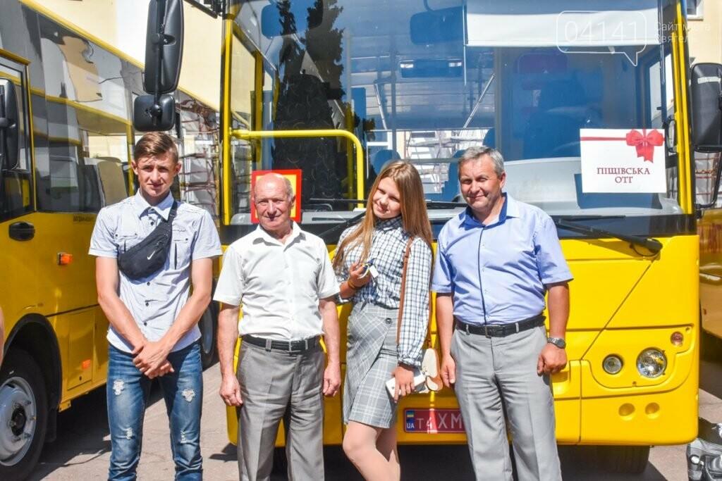 Нові шкільні автобуси отримали Піщівська та Городницька громади Новоград-Волинсьго району, фото-2