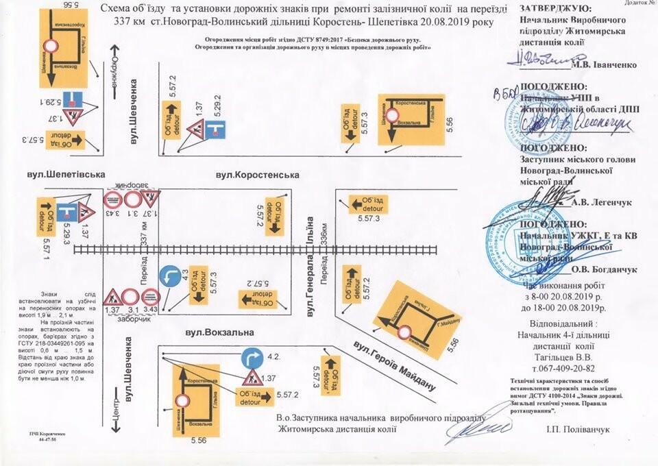 У Новограді перекриють залізничний переїзд: Коли і як об'їхати (СХЕМА), фото-1