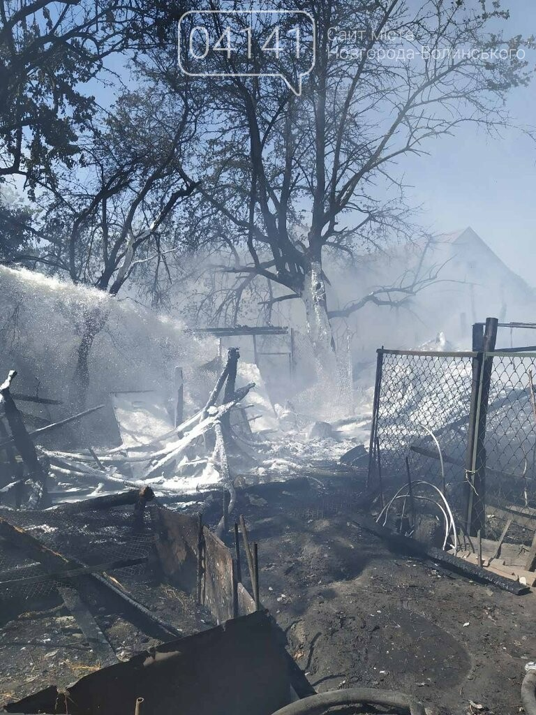У Новограді під час пожежі вогнеборці врятували два житлових будинки, фото-1