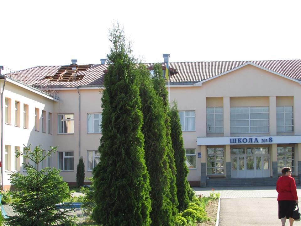 У Новограді-Волинському шквальний вітер завдав пошкоджень ЗОШ №8 та позривав дахи з будинків, фото-2