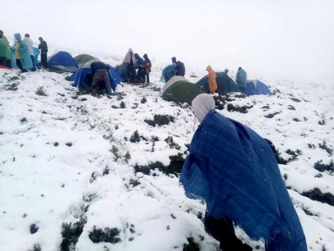 Карпати завалило червневим снігом, евакуюють дитячий табір (ФОТО), фото-1