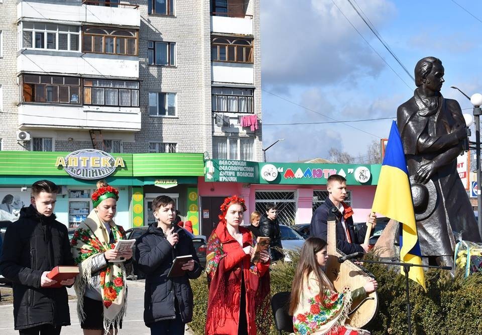 У Новограді-Волинському відбувся урочистий мітинг дня народження Тараса Шевченка , фото-1