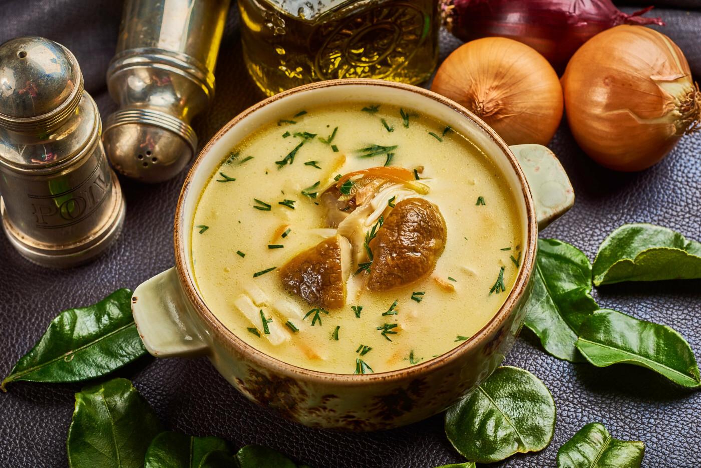 Крем суп з лісових грибів з вершками, фото-1