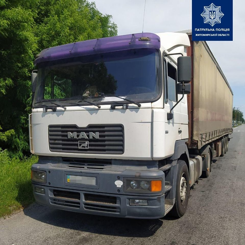 На Новоград-Волинщині затримали вантажівку з деревиною без документів, фото-1
